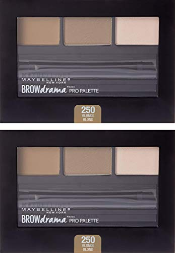 - (2 Pack) Maybelline New York Brow Drama Pro Eyebrow Palette, 250 Blonde, 0.1 Ounce