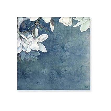 Bianco magnolia sfondo blu elegante classica cinese pittura Bisque ...