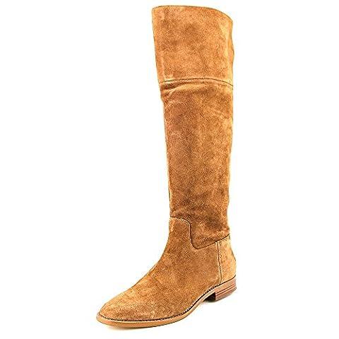 Michael Kors Regina Flat Boot Dark Caramel Suede Fashion Over