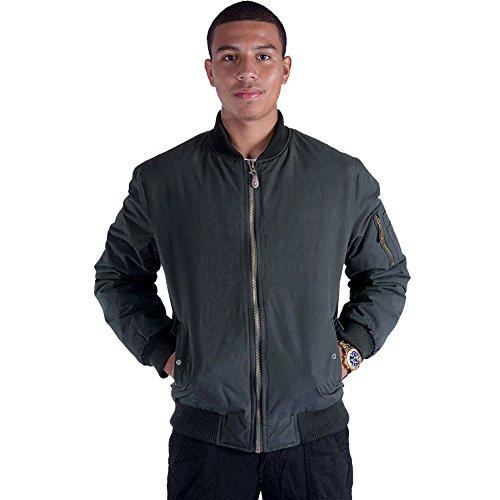Men Stand Collar Large Black Bomber Jacket Casual Bike Motorcycle Coat Outwear Black Large