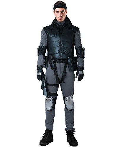 Miccostumes Men's Solid Snake Cosplay Outfit Halloween Costume with Vest Belts Set (M) for $<!--$119.99-->