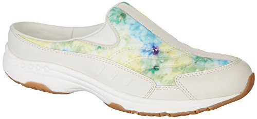 Easy Spirit Womens Traveltime 313 Athletic Mules White Multi nL4fosPc