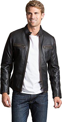 Overland Sheepskin Co Retro Motocross Cowhide Leather (Cross Leather Jacket)