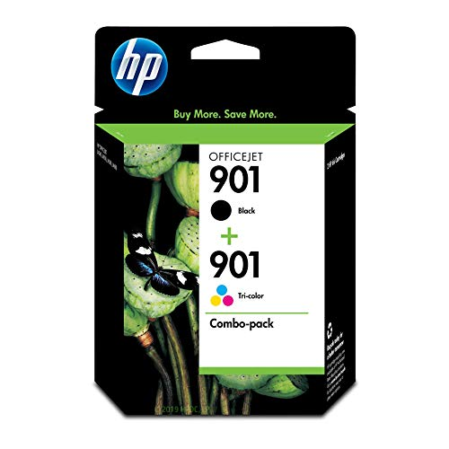 - HP 901 Black & Tri-Color Ink Cartridges, 2 Cartridges (CC653AN, CC656AN)