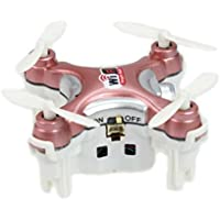 Lanlan 1PCS Mini Pocket Portabel USB Charge RC Wifi Drone Quadcopter Cheerson CX-10WD-TX 4CH 6 Axis Gyro FPV FPV Flight Helicopter Hobbies RC Drone Kids Birthday Christmas New Year Toy Gift Rose
