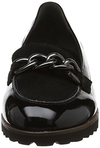77 Jollys Black Flats Schwarz Ballet Cognac Gabor Women's S7Tw1