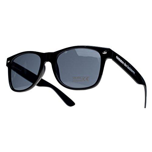 comme sun de 4sold unisex con TM negro Gafas Negro ochentero ahumados diseño sol cristales UTq7FxOWwU