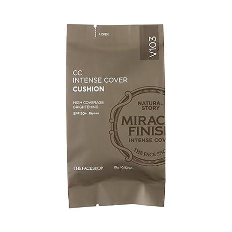 Amazon.com: [la cara tienda] CC Intense Cover Cojín SPF50 + ...