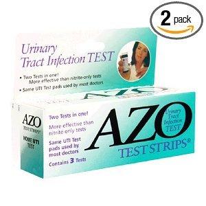 AZO urinaires Infection des voies bandes d'essai, 3-Comte Boîtes (pack de 2)