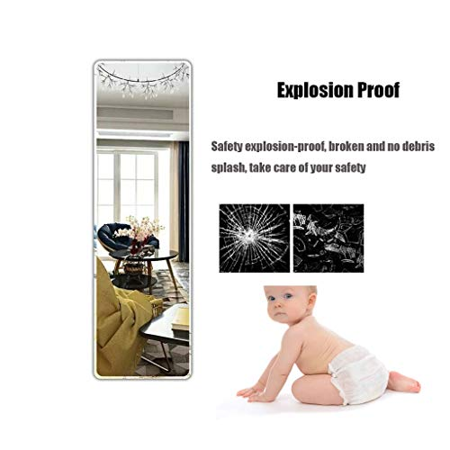 XSV Full-Length Mirror Wall-Mounted Paste Living Room Porch Bathroom Ultra-White Explosion-Proof Mirror -