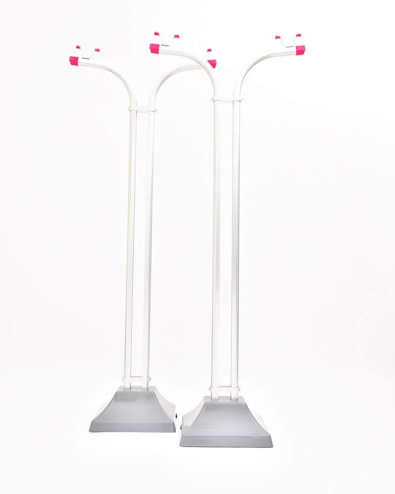 物干し台 アルミ物干しスタンド IH-TS プラスチックカバー付きコンクリベース付き 本体カラー:シルバー (キャップカラー:パールピンク) B07GBLG4ZQ パールピンク