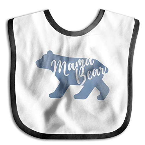 Mama Bear Funny Baby Bibs Burp Infant Cloths Drool Toddler Teething Soft Absorbent