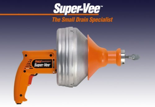 General Wire Super-Vee Drain/Sewer Cleaning Machine W/ 25' x 1/4'' Cable,SV-F by General Wire