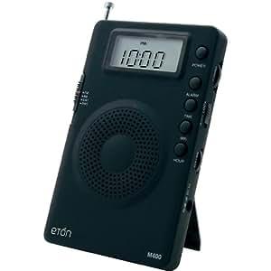 Grundig Mini GM400 Super Compact AM/FM Shortwave Radio with Digital Display - Black (NGM400B)