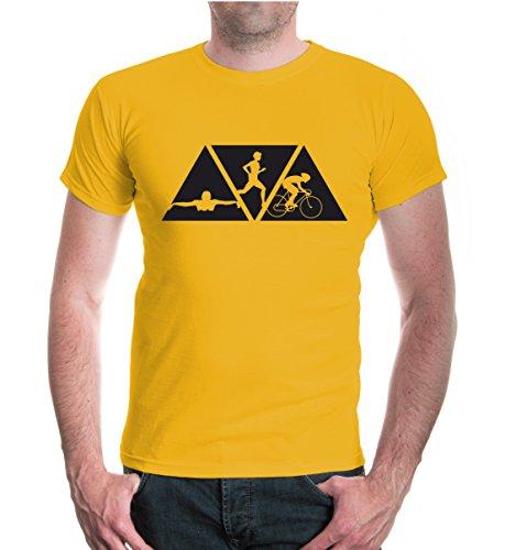 buXsbaum T-Shirt Swimming Cycling Running-XXL-Sunflower-Black (Schwimmen-trikots)