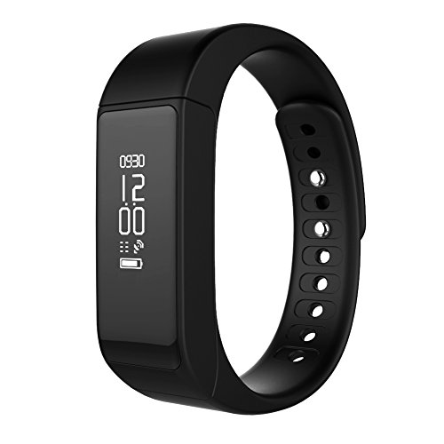 """CHEREEKI Brazalete Inteligente deportivo Bluetooth 4.0 con pantalla táctil OLED de 0.91"""" y seguidor de actividad con podómetro, contador de pasos, monitor de sueño y calorías, para Android y iPhone IOS (Negro)"""