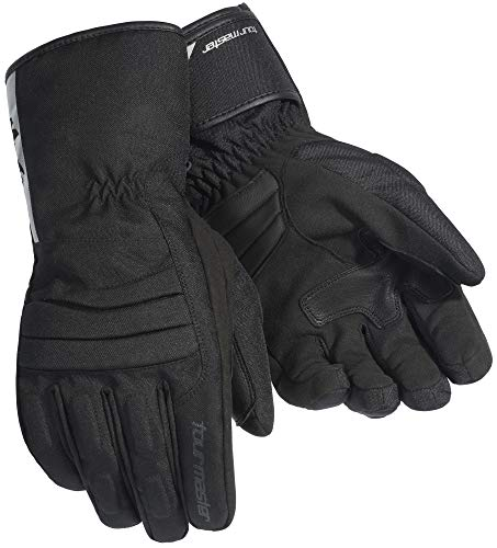 Tour Master Mid-Tex Men's Textile Street Racing Motorcycle Gloves - Black / 2X-Large