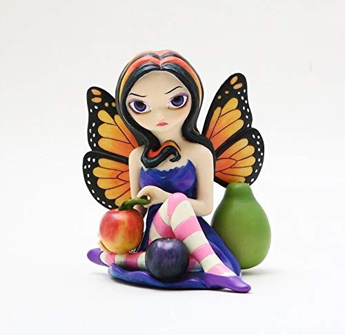 - Figurine Large Peach Plum Pear Fairy Statue