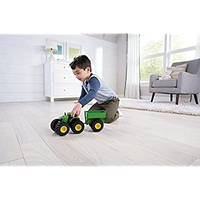 John Deere Monster Treads Tractor with Wagon: Toys & Games