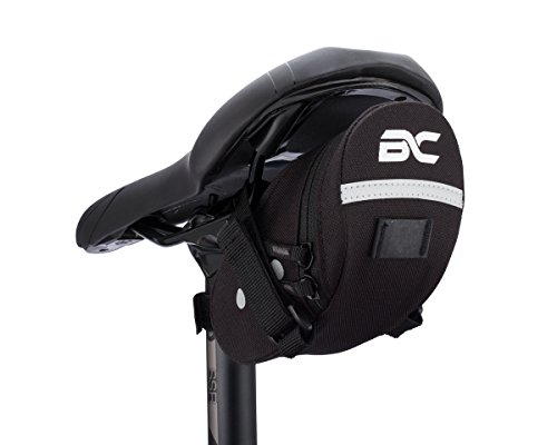 Bicycle Saddle Bag by BC Bicycle Company Small Under Seat Pack for Road and MTB Bikes Holds All Your Essential Cycling Accessories