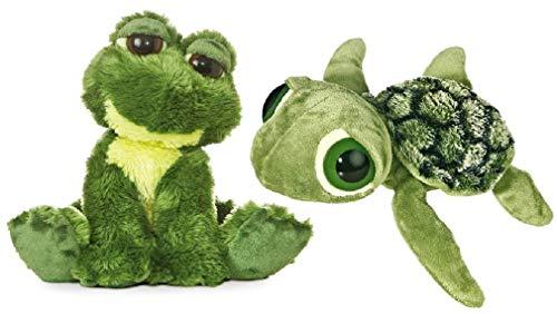 (Aurora Plush Dreamy Eyes Bundle, Slide Sea Turtle and Fantabulous Frog)