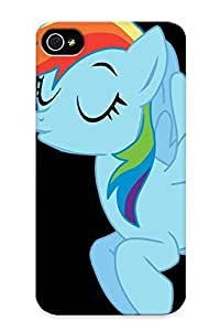 (d2d3bce1964)durable Protection Case Cover With Design For Iphone 4/4s(rainbow Dash Cartoon )