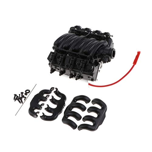 1/10 Scale V8 Engine Radiator with Cooling Fan for SCX10 Rock Crawler: Amazon.co.uk: Toys & Games