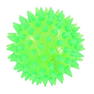 uxcell® Green Textured Ball Shaped Squeaky Chew Toy for Pet Dog Cat Puppy Yorkie