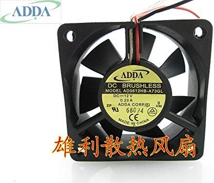 Original FOR ADDA AD0612HB-A73GL 12V 0.23A 6CM 6025 3 wire cooling fan