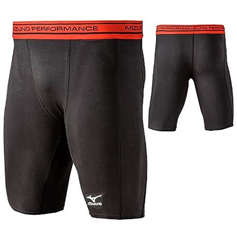 Mizuno Youth Comp Compression Shorts, Black, Small