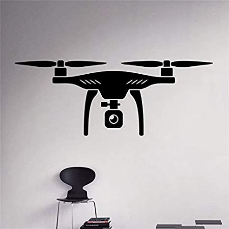 120 * 45 cm Real Air Drone Wall Vinyl Decal Quadcopter Sticker ...