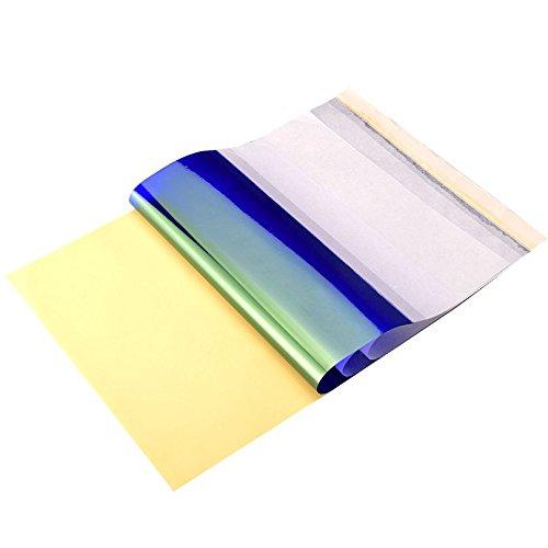 25 Bl/ätter ATOMUS 25 Bl/ätter Tattoo Transferpapier Carbon Thermal Tracing Carbon Schablone Papier Transfer Kopierpapier A4 Gr/ö/ße f/ür Tattoo Drucker Maschine