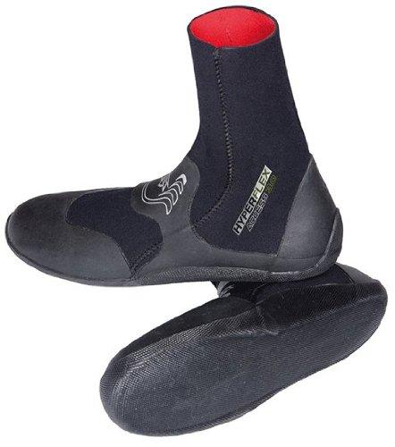 Hyperflex Mens Access Series - Hyperflex Wetsuits Men's 3mm Access Round Toe Boot, Black, 9 - Surfing, Windsurfing & Wakeboarding
