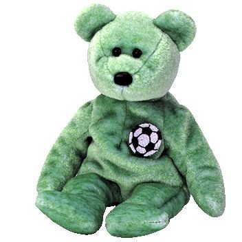 Ty Kicks The Soccer Bear Beanie Baby (Retired) (Kicks Beanie Babies)