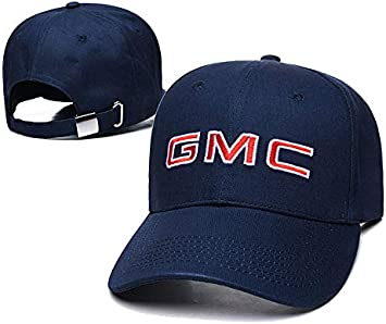 SO Yoursport Car Logo 3D Embroidered Baseball Cap Men Women Adjustable Hat Travel Cap Fit GMC Accessories Navy