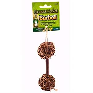 Ware Manufacturing Natural Woven Willow Small Pet Barbell Chew Toy, Small