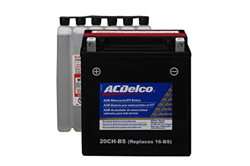 ACDelco ATX20CHBS Specialty AGM Powersports JIS 20CH-BS Battery by ACDelco