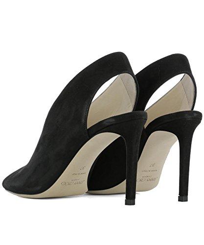 Femme SHAR85SUEBLACK Chaussures À Choo Noir Talons Jimmy Cuir A7fqX