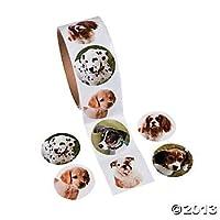 Fun Express Dog Roll Stickers - 100 Stickers