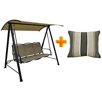 Amazon Com Mainstay Patio Canopy Porch Swing Outdoor 3
