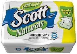 Scott Naturals with Aloe Vera Flushable Moist Wipes (2 Pack)