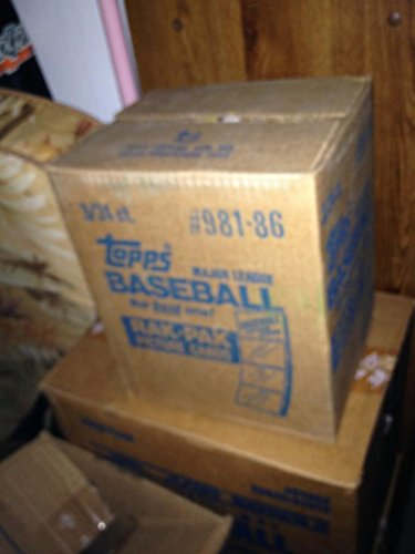 (1986 Topps Baseball Card Set 3 Rack Pack Box FACTORY SEALED CASE Rak 6 Wax Box)
