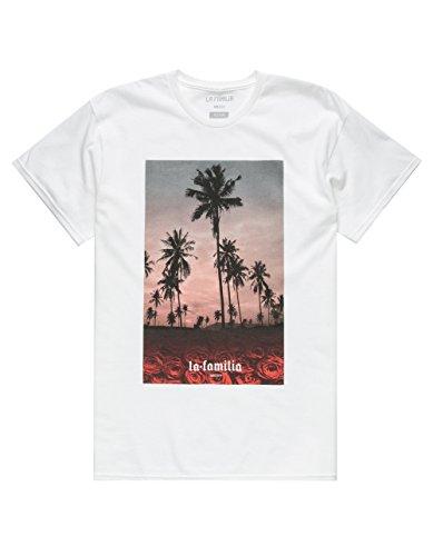 LA FAMILIA Crimson Beach T-Shirt, White, - Familia Tee