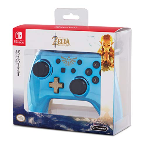 The legend of Zelda Breath Of The Wild Nintendo Switch Wired Controller (Elite Chrome Legend)