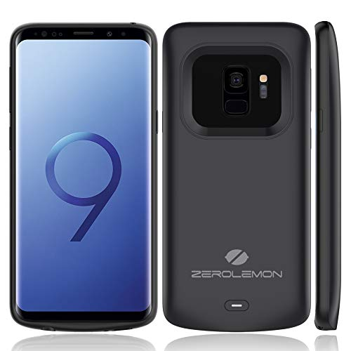 Galaxy S9 Battery Charging Case, ZeroLemon Slim Power 4700mAh Extended Battery with Full Edge Protection Charging Case for Samsung Galaxy S9 - Black