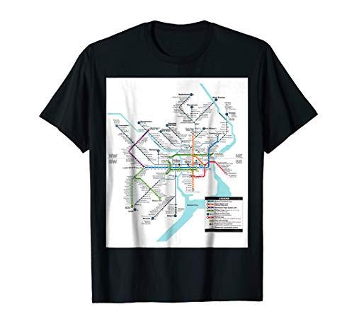 Philadelphia System Map - Pennsylvania - USA - T-shirt