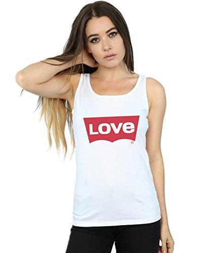 Camiseta Mangas Drewbacca Sin Mujer Love Blanco Jeans Ow64gq