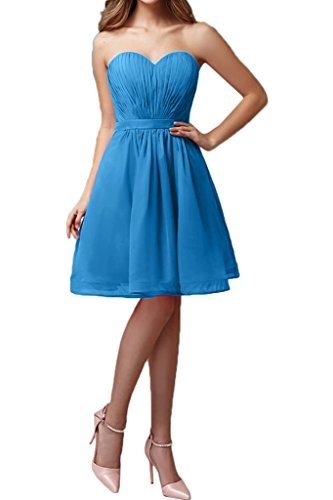 Blue Length Homecoming Sweetheart Dress Bridesmaid A Chiffon line Avril Mini Dress qgvXwqH
