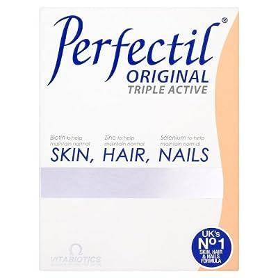 Vitabiotics, Perfectil Triple Active, Essential Nutrients for Skin, Hair & Nails, 30 Count