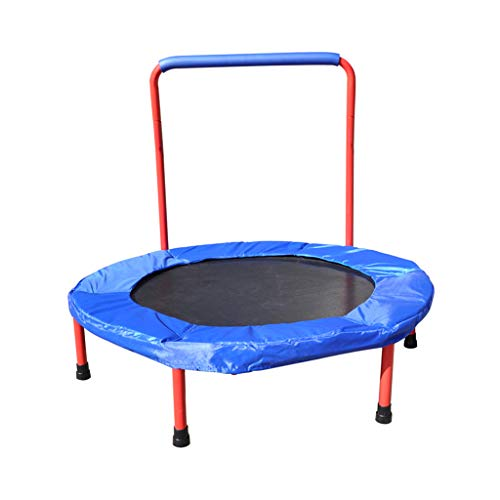 KTYXDE-Childrens-Trampoline-Indoor-with-Armrests-Home-Folding-Baby-Trampoline-Trampoline